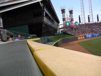 Great American Ball Park, vak: 102, rij: A, stoel: 20