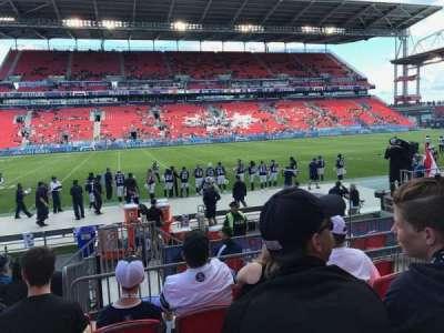 BMO Field, vak: 125, rij: 8, stoel: 7