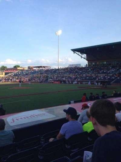 Durham Bulls Athletic Park, vak: 111, rij: H, stoel: 13