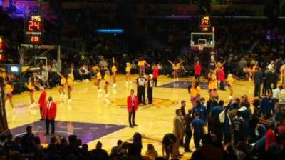 Staples Center, vak: 106, rij: 18