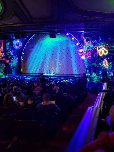 Palace Theatre (Broadway), vak: Orchestra, rij: Q, stoel: 2
