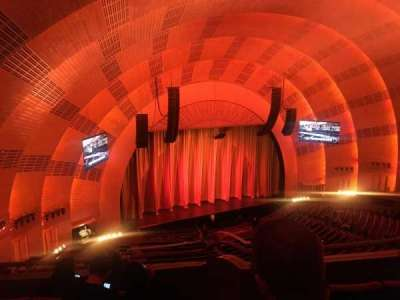 Radio City Music Hall, vak: 3rd mezzanine 7, rij: D, stoel: 702