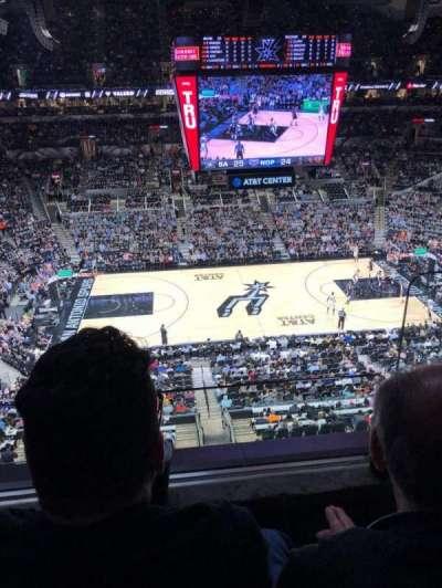 AT&T Center, vak: 209, rij: 2, stoel: 2