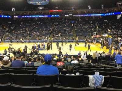 Oracle Arena, vak: 128, rij: 12, stoel: 6