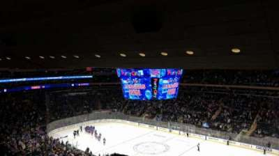 Madison Square Garden, vak: 214, rij: 13, stoel: 8