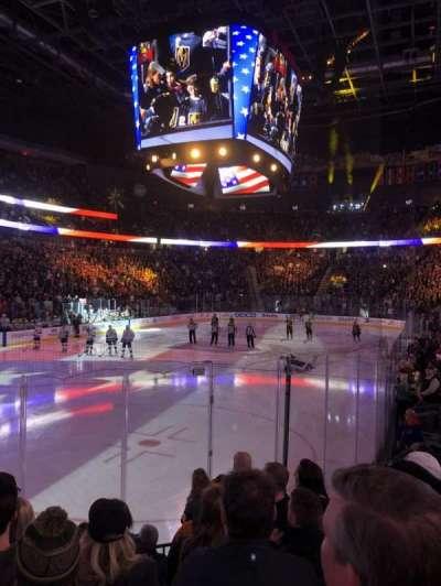 T-Mobile Arena, vak: 12, rij: G, stoel: 10