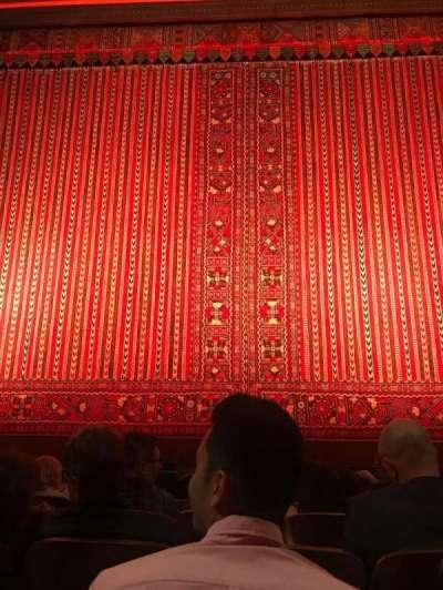 New Amsterdam Theatre, vak: Orchestra, rij: E, stoel: 107