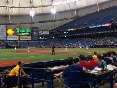 Tropicana Field, vak: 127, rij: G, stoel: 21