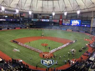 Tropicana Field, vak: 301, rij: C, stoel: R