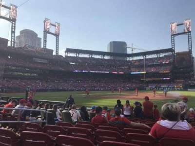 Busch Stadium, vak: 140D, rij: K, stoel: 5