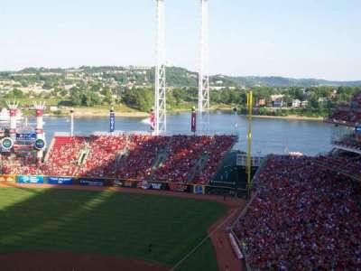 Great American Ball Park, vak: 522, rij: F, stoel: 4