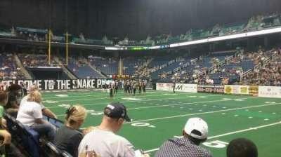 Greensboro Coliseum, vak: 111, rij: BB, stoel: 8