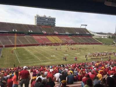 Jack Trice Stadium, vak: 28, rij: 44, stoel: 1