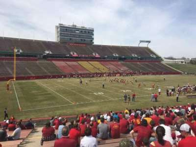 Jack Trice Stadium, vak: 28, rij: 27, stoel: 1