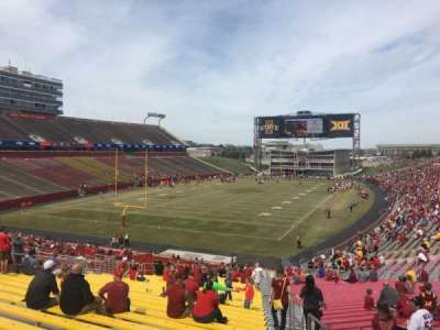 Jack Trice Stadium, vak: 23, rij: 39, stoel: 27