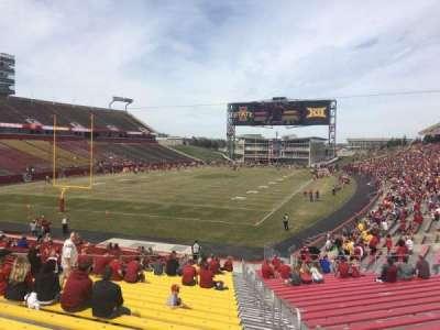 Jack Trice Stadium, vak: 23, rij: 27, stoel: 20