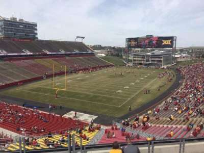 Jack Trice Stadium, vak: P, rij: 8, stoel: 1