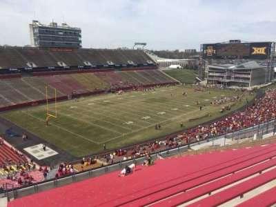 Jack Trice Stadium, vak: R, rij: 20, stoel: 1
