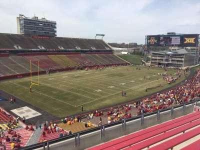 Jack Trice Stadium, vak: R, rij: 8, stoel: 1