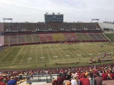 Jack Trice Stadium, vak: V, rij: 20, stoel: 1