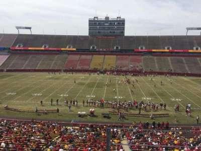 Jack Trice Stadium, vak: W, rij: 3, stoel: 34