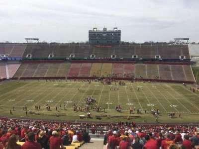 Jack Trice Stadium, vak: X, rij: 27, stoel: 1