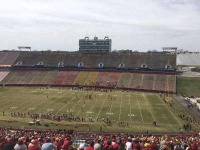 Jack Trice Stadium, vak: Y, rij: 28, stoel: 4