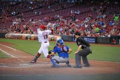 Great American Ball Park, vak: 119, rij: F, stoel: 1