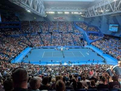 Perth Arena, vak: 306, rij: U, stoel: 6