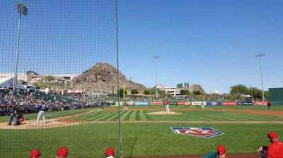 Tempe Diablo Stadium, vak: 15, rij: E, stoel: 9