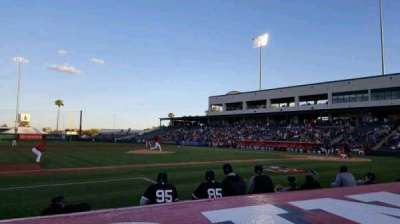 Tempe Diablo Stadium, vak: 5, rij: E, stoel: 5
