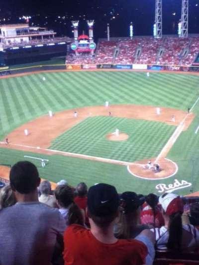 Great American Ball Park, vak: 521, rij: F, stoel: 12