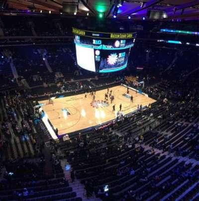 Madison Square Garden, vak: 311, rij: 1, stoel: 12