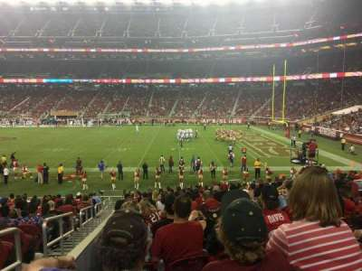 Levi's Stadium, vak: 134, rij: 20, stoel: 16