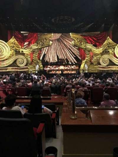 The Colosseum At Caesars Palace, vak: Rear Orchestra 4, rij: E, stoel: 418