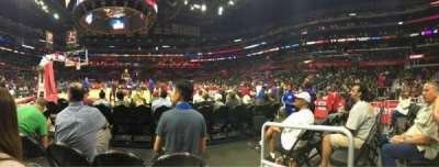 Staples Center, vak: 106, rij: D, stoel: 1