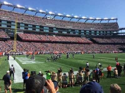 Gillette Stadium, vak: 137, rij: 4, stoel: 9
