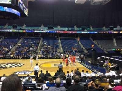 Greensboro Coliseum, vak: 110, rij: Ff, stoel: 8