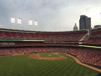 Great American Ball Park, vak: 403, rij: R, stoel: 11