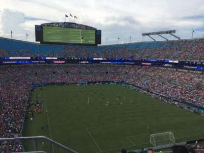 Bank of America Stadium, vak: 531, rij: 3, stoel: 13