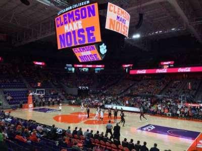 Littlejohn Coliseum, vak: 116, rij: M, stoel: 7