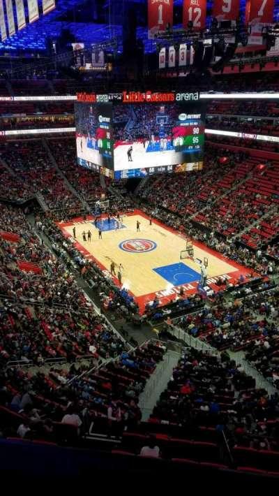 Little Caesars Arena, vak: 222, rij: 1, stoel: 1