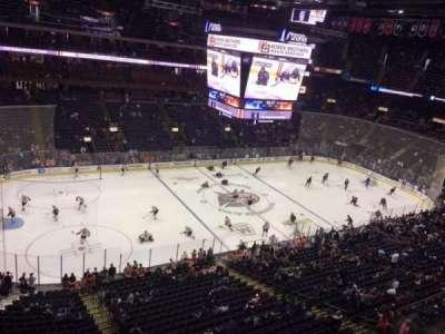 Nationwide Arena, vak: 205, rij: B, stoel: 5