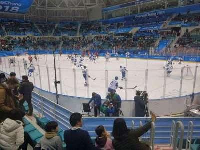 Gangneung Ice Hockey Centre, vak: 109, rij: D, stoel: 2