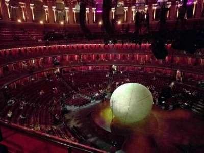 Royal Albert Hall, vak: Circle Y, rij: 2, stoel: 118