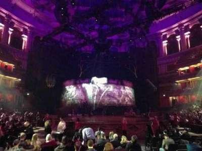Royal Albert Hall, vak: Stalls K, rij: 5, stoel: 64