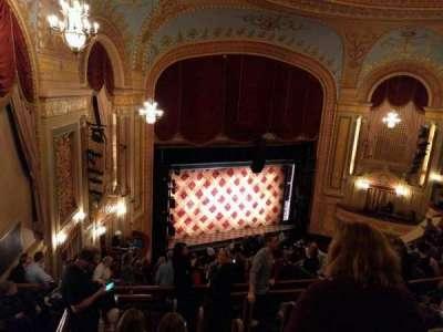 Forrest Theatre, vak: Rear Mezzanine A, rij: G, stoel: 4