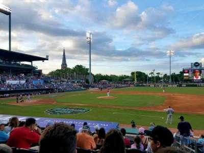 Baseball Grounds of Jacksonville, vak: 113, rij: P, stoel: 14