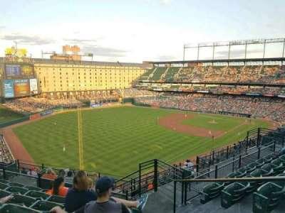 Oriole Park at Camden Yards, vak: 374, rij: 14, stoel: 2