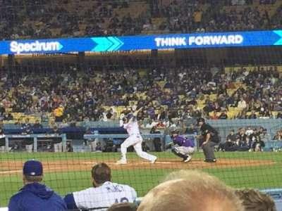 Dodger Stadium, vak: 13DG, rij: DD, stoel: 12